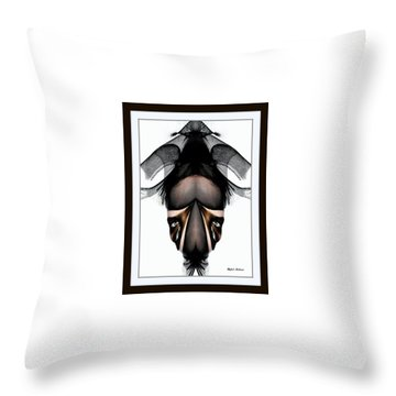Throw Pillow featuring the painting What You See Is What You Get? by Rafael Salazar