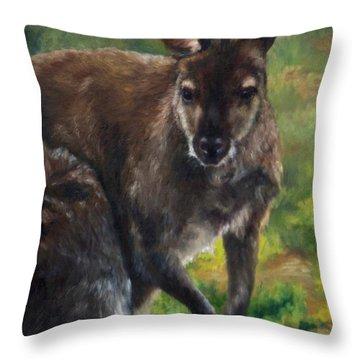 What'ch Ya Doin' Throw Pillow by Lori Brackett