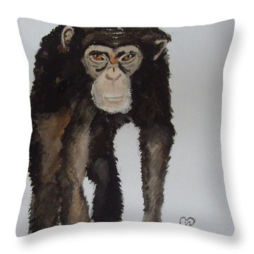 Whatcha Throw Pillow by Carole Robins