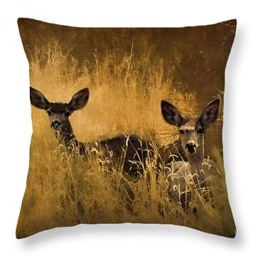 What'cha Lookin' At Throw Pillow by Karen Slagle