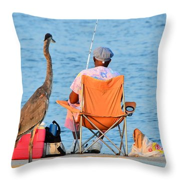 Throw Pillow featuring the photograph What's For Lunch by Charlotte Schafer