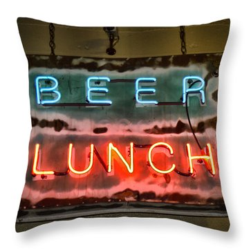 What's For Lunch? Throw Pillow