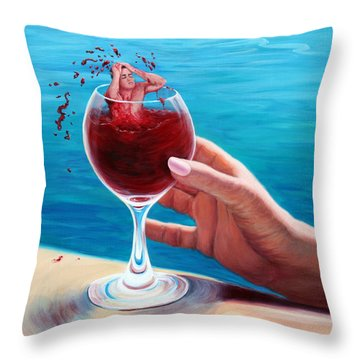 What's In Your Goblet? Throw Pillow