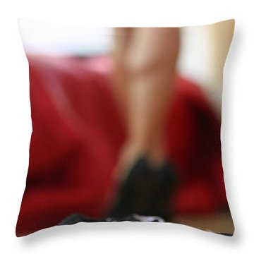 Throw Pillow featuring the pyrography What's Next? by Shoal Hollingsworth