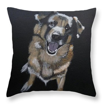 Throw Pillow featuring the painting What's Up by Richard Le Page