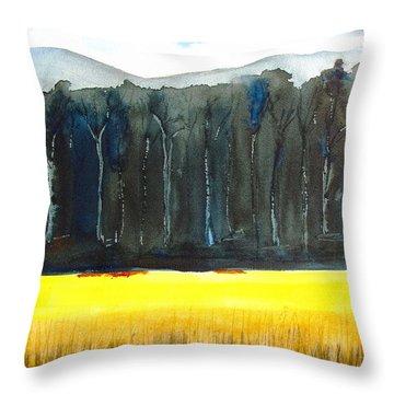 Wheat Field 2 Throw Pillow by Carlin Blahnik