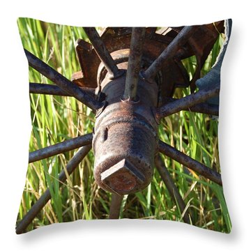 Throw Pillow featuring the photograph Wheel by Mim White