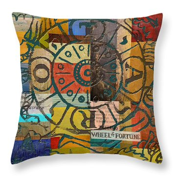 Wheel Of Fortune Throw Pillow by Corporate Art Task Force