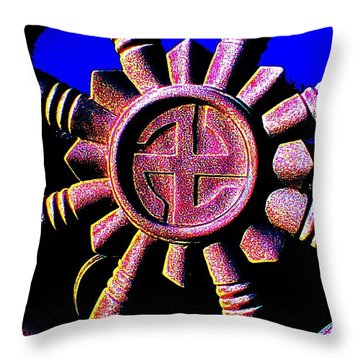 Buddhist Dharma Wheel 1 Throw Pillow