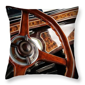 Old Car Throw Pillow featuring the photograph Wheel To The Past by Aaron Berg