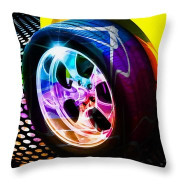 Classic Cars Throw Pillow featuring the photograph Wheeled by Aaron Berg