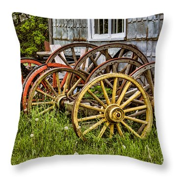 Wheels At Rest Throw Pillow by Gerda Grice