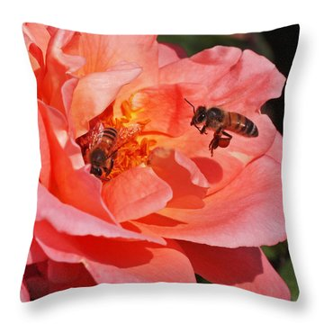 Wheels Down Throw Pillow by Rona Black