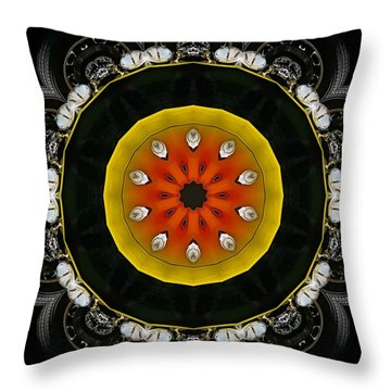 Wheels Go Round Throw Pillow by Victor Montgomery
