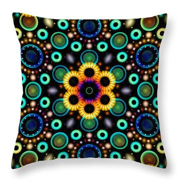Wheels Of Light Throw Pillow