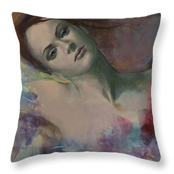 When A Dream Has Colored Wings Throw Pillow by Dorina  Costras