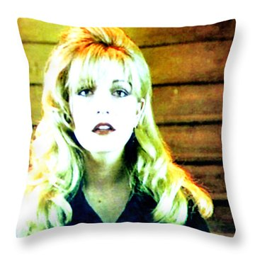When All The World Seemed To Sleep Throw Pillow by Luis Ludzska