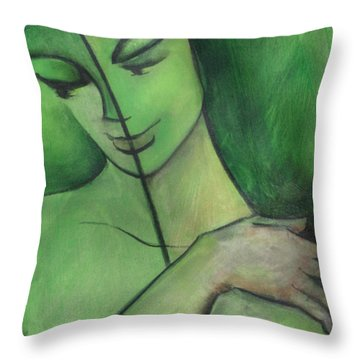 When Body Becomes Word Throw Pillow