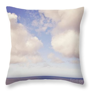 When Clouds Meet The Sea Throw Pillow