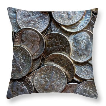 When Dimes Were Made Of Silver Throw Pillow by Heidi Smith