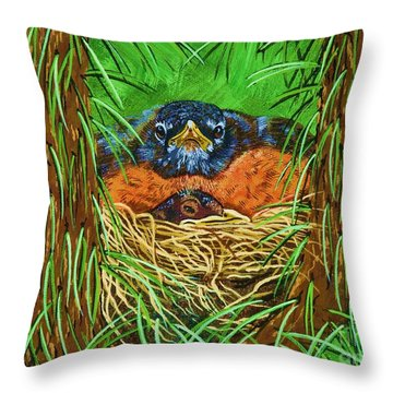 When Do They Leave Throw Pillow