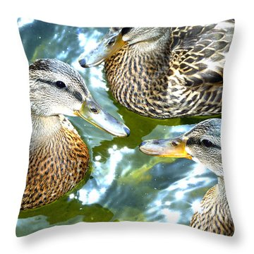 When Duck Bills Meet Throw Pillow
