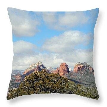 Throw Pillow featuring the photograph When Far Clouds Depart by Lynda Lehmann