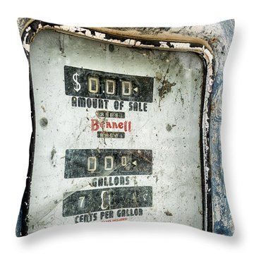When Gas Made Cents Throw Pillow by Caitlyn  Grasso