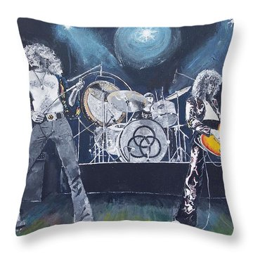 When Giants Rocked The Earth Throw Pillow