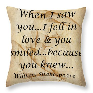 When I Saw You Throw Pillow