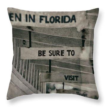 When In Florida Throw Pillow