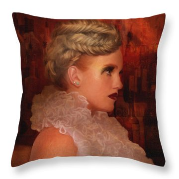 When In Paris Visit The Moulin Rouge Throw Pillow by Angela A Stanton