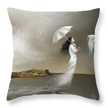 When It Snows In Scarborough Throw Pillow