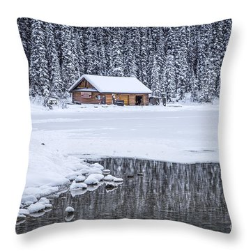 When It Snows Outside Throw Pillow