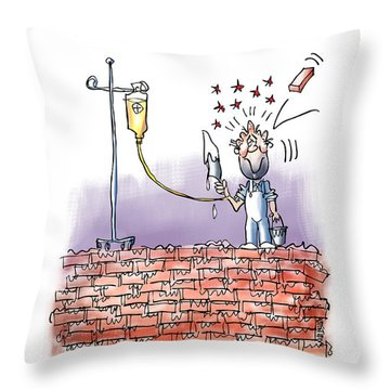 When Life Throws You Bricks Throw Pillow