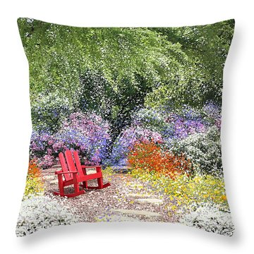 When May Comes Throw Pillow