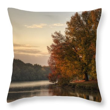 When Morning Arrives Throw Pillow by Jeff Burton