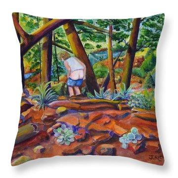 When Nature Calls Throw Pillow