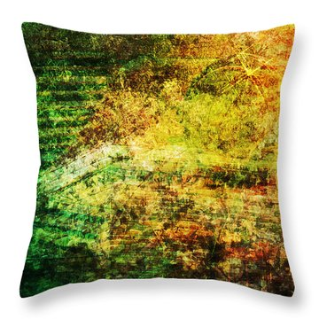 Throw Pillow featuring the mixed media When Past And Present Intersect #1 by Sandy MacGowan