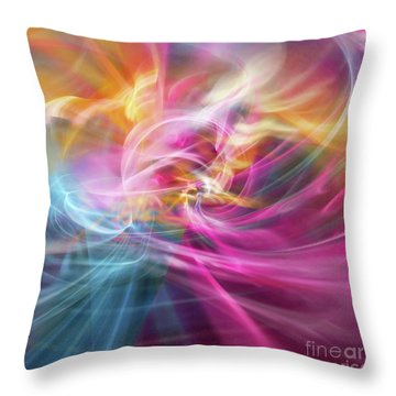 Throw Pillow featuring the digital art When Prayers Enter The Throne Room by Margie Chapman