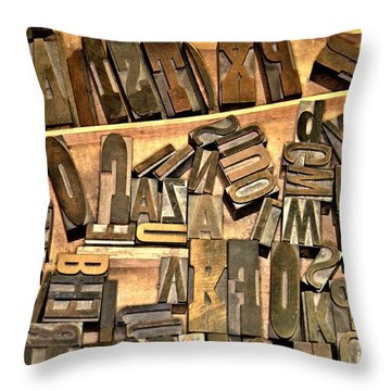 Throw Pillow featuring the photograph When Printing Was An Art... by Bob Wall