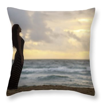 When The Fire Touched The Night Throw Pillow