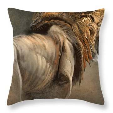 When The King Speaks Throw Pillow by Aaron Blaise