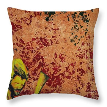 Throw Pillow featuring the painting When The Levee Broke by Stuart Engel
