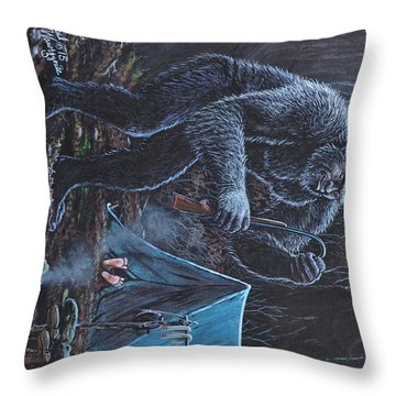 When The Lights Go Out Throw Pillow by Michael Wawrzyniec