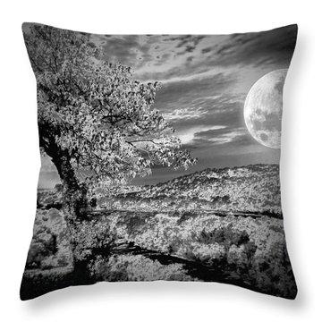 Throw Pillow featuring the photograph When The Moon Comes Over Da Mountain by Robert McCubbin