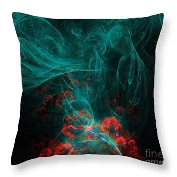 When The Smoke Clears They Bloom Throw Pillow by Elizabeth McTaggart