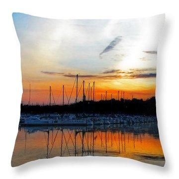 When The Sun Goes Down Throw Pillow by Susan  McMenamin