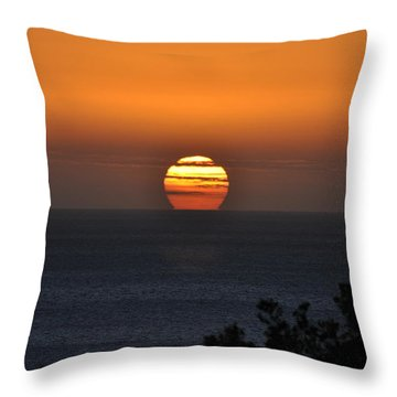Throw Pillow featuring the photograph When The Sun Sets by Sabine Edrissi