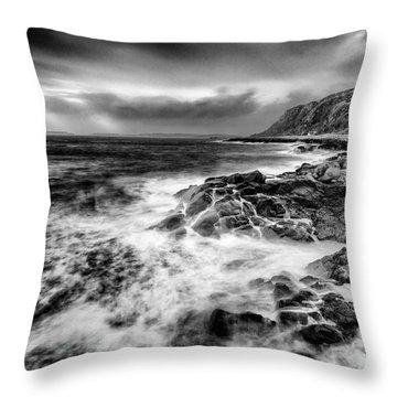 When The West Wind Blows Throw Pillow by John Farnan
